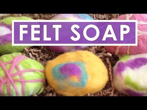 how to make felted soap diy craft gift idea youtube. Black Bedroom Furniture Sets. Home Design Ideas