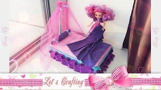 Кровать с балдахином для куклы Малючи