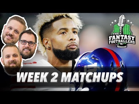 Fantasy Football 2017 - Week 2 Matchups, In-or-Out, Red Regrets - Ep. #437