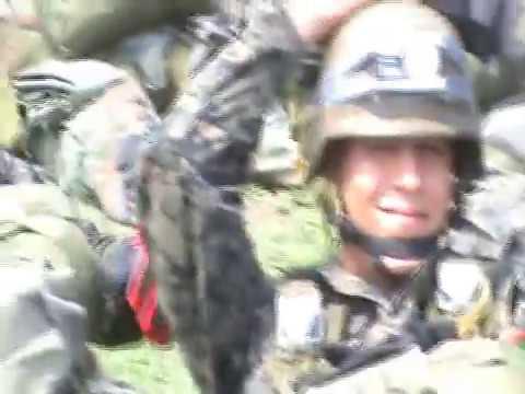 Paracaidista Militar Honduras Salto de helicoptero (Headcam view)
