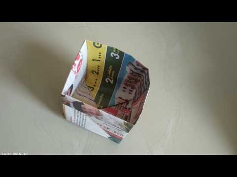 How to make newspaper dustbin/Paper garbage bag(For dry waste)/Trash bin dustbin from newspaper