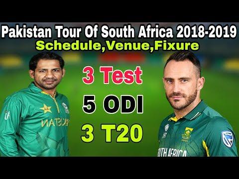 Pakistan Tour Of South Africa 2018-2019 Schedule, Venue, And Fixtures | Pak Vs SA 2018-2019