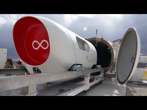Virgin-Hyperloop: Erste Testfahrt mit der Hochgeschwindigkeits-Kapsel