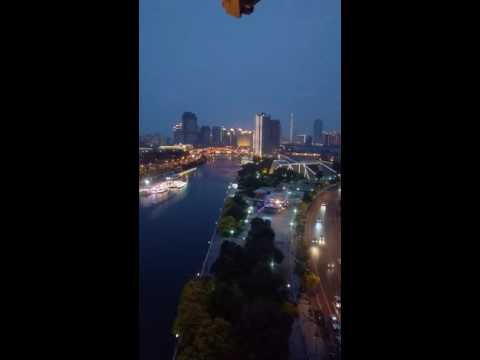 Tianjin Haihe river night view