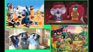 Cartoon Parrot Rio Sing The Jungle Book Mowgli Puzzle Games For Kids
