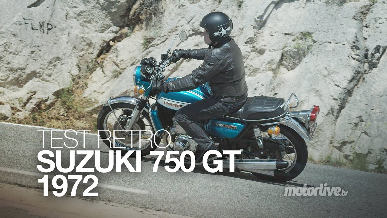 test retro suzuki 750 gt 1972 moto vapeur youtube. Black Bedroom Furniture Sets. Home Design Ideas