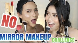 NO MIRROR MAKEUP CHALLENGE   [ TY QUANG LE ft. QUYNH THI ]