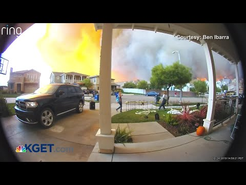 Doorbell Video Shows Family Evacuating From Tick Fire