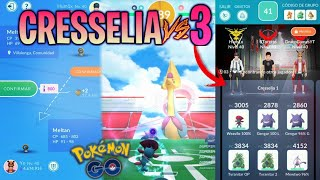 CRESSELIA VS 3 JUGADORES !! INTERCAMBIO ESPECIAL de MELTAN & MÁS !! - Pokemon Go