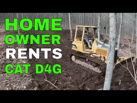 Homeowner Rents Caterpillar D4G For Land Clearing - Youtube Yacht Series