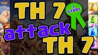 Clash of Clans: TH7 attack TH7 Dragon 3 Stars