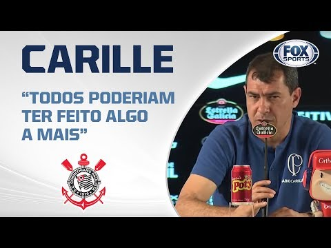 """""""COBREI NO VESTIÁRIO"""": Carille reclama de """"desconcentração"""" do Corinthians contra o Ceará"""