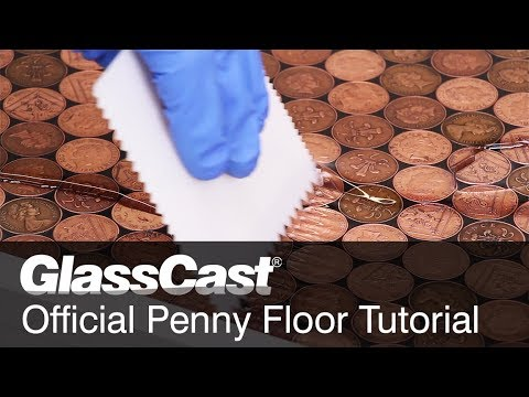 How to Lay a Penny Floor with GlassCast 3 Clear Epoxy Resin