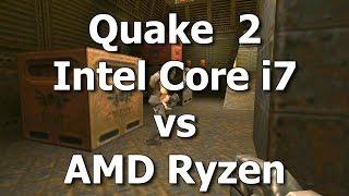 Quake 2 - Ryzen vs. Core i7 - Software Rendering Mode