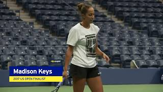 Madison Keys Warms Up For Her SF Match at the 2018 US Open