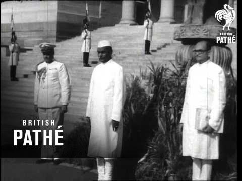 Indian President Dr. Rajendra Prasad Sworn In  (1952)