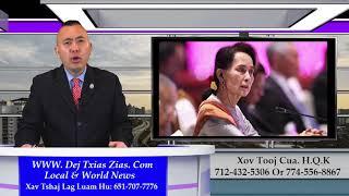 5/25/21. Phab Mab Tus Nom Aung San Suu Kyi Los Hais New Rooj Plaub/Meskas Nyiag Neeg Nyob Meskas Teb