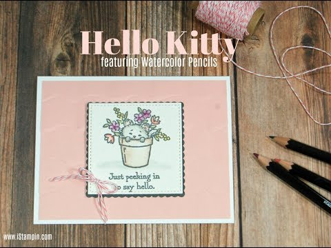 Stampin' Up! Pretty Kitty and Watercolor Pencils