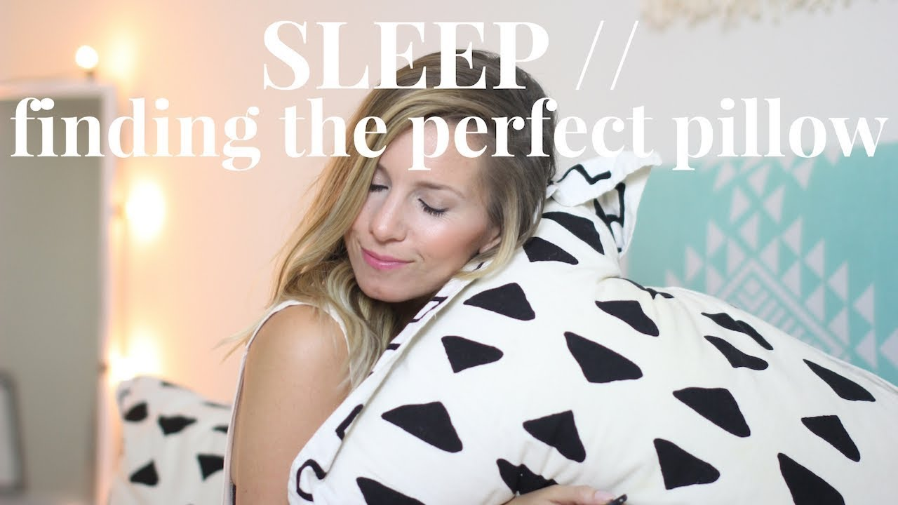 how to get better sleep find the perfect pillow youtube. Black Bedroom Furniture Sets. Home Design Ideas