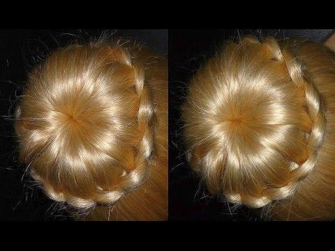 Frisuren mit Duttkissen/Dutt.Hochsteckfrisur.Donut Hair Bun Updo Hairstyle.Chignon Tressé ...