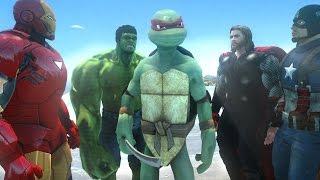Raphael vs AVENGERS (Teenage Mutant Ninja Turtles) - EPIC BATTLE