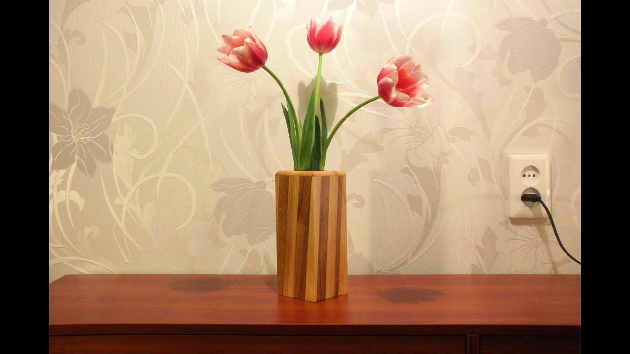 how to make a wooden vase youtube. Black Bedroom Furniture Sets. Home Design Ideas