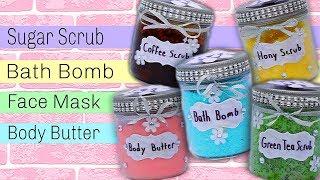 DIY Spa Bath &amp Body Gift Set  Sugar Scrubs, Body Butter, Bath Mix &amp More!
