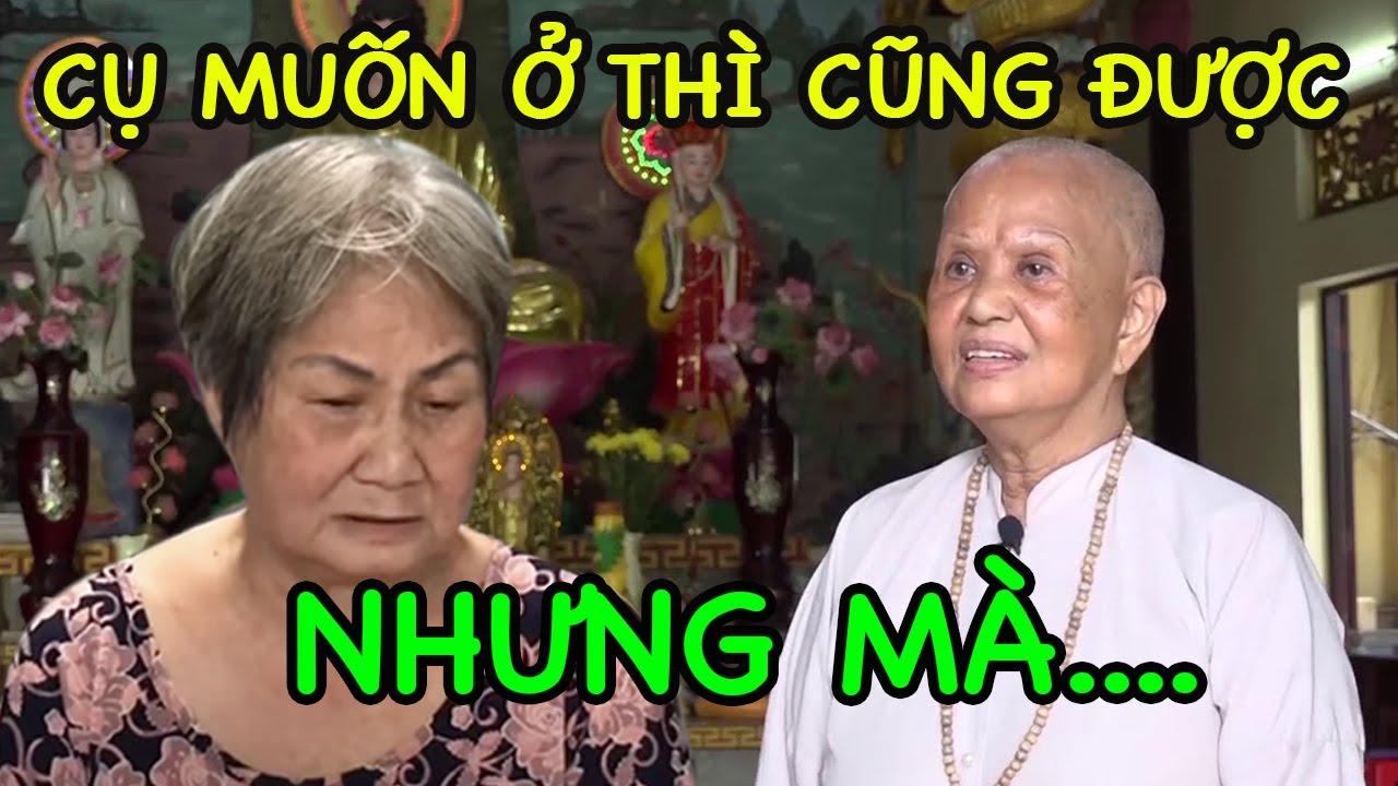 Bà cụ 70t cầu xin về tịnh thất tá túc và đây là CÂU TRẢ LỜI của sư cô Đồng Nai