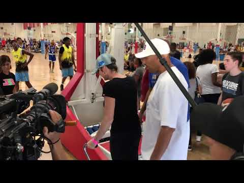 LaVar Ball arrives to his BIG BALLERS AAU game with his wife,