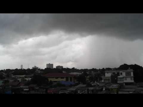 Debris Floating from brief Metro Manila Tornado