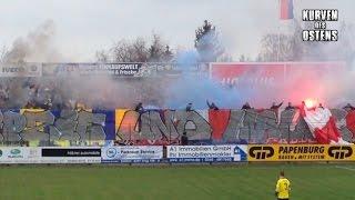 VfL Halle 96 0:0 1. FC Lokomotive Leipzig 20.03.2016   Choreo & Pyro