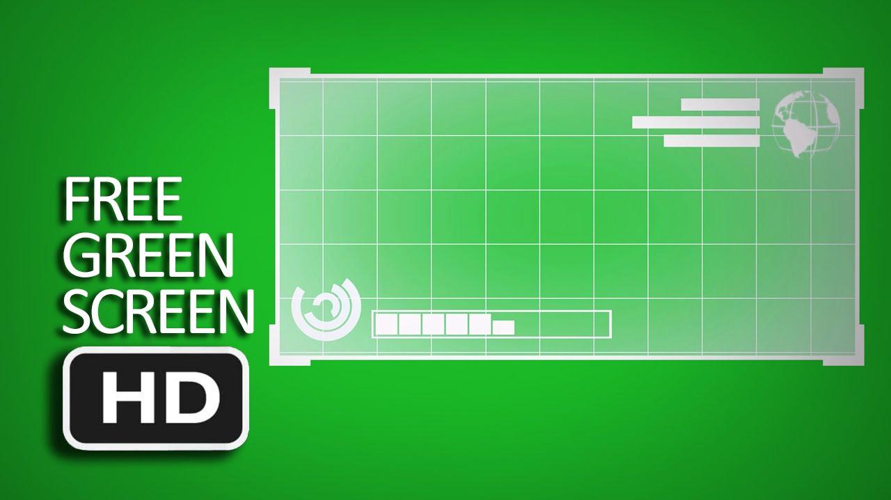free green screen hologram screen template youtube