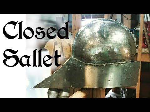 Making a Closed Sallet - Part 2 - YouTube