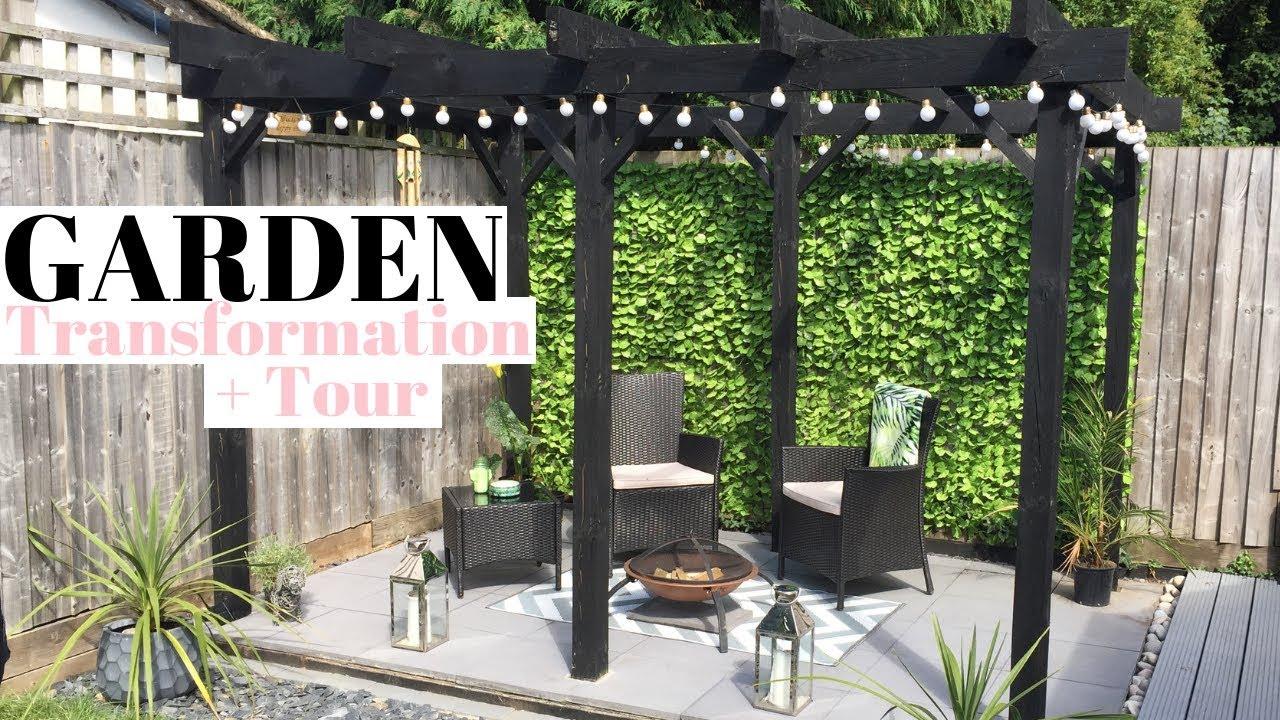 New Build Garden Transformation Uk Diy Pergola Garden Home Tour Ep 5 Youtube