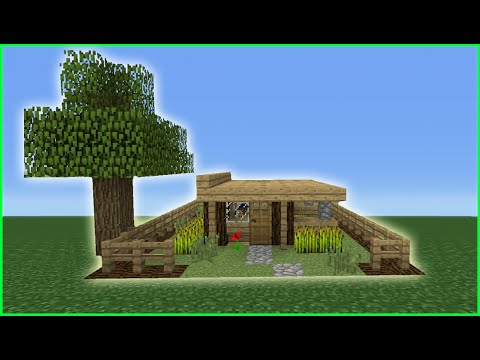 Smallest Tree House In The World minecraft tutorial: how to make the smallest survival house ever