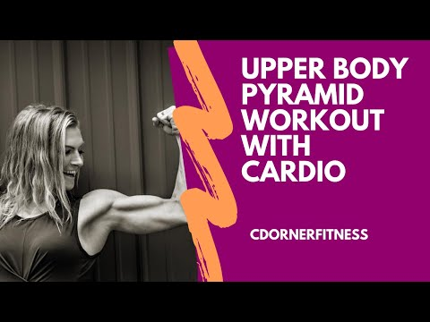 UPPER BODY PYRAMID HOME Workout with Cardio Intervals! High rep Arm workout!
