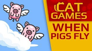 CAT GAMES - 🐖 When pigs fly! (Video for cats to watch) 1 HOUR 4K 60FPS