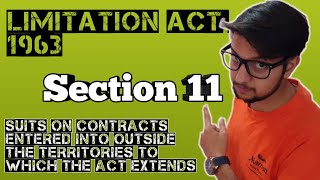section 11 limitation act, 1963 || Lecture || With Examples || Easy to understand || Hindi & English