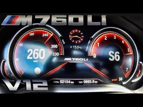 BMW M760Li ACCELERATION & TOP SPEED 0-262 km/h 6.6 V12 BiTurbo 610 HP by AutoTopNL
