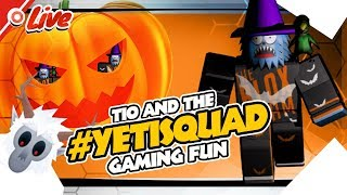 Roblox Halloween 2018 Event, Games and Items | #1kHype 🔴TioBaconToast #YetiSquad Live # 63 [Replay]