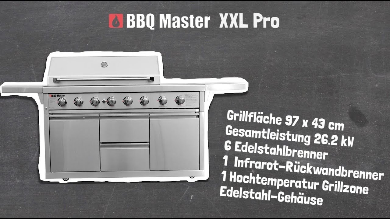 Outdoorküche Gasgrill Xxl : Bbq master xxl pro youtube