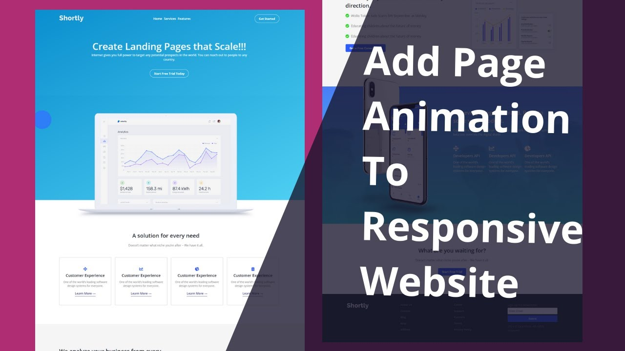 Responsive Website Design – Part 2 | Add Page Scroll Animation