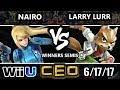 CEO 2017 Smash 4 - MSF | Larry Lurr (Fox) vs NRG | Nario (ZSS) WiiU Winner's Semis