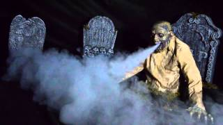Gaseous Zombie Animated Fog Halloween Prop Haunted House Scary Yard Garden Decor