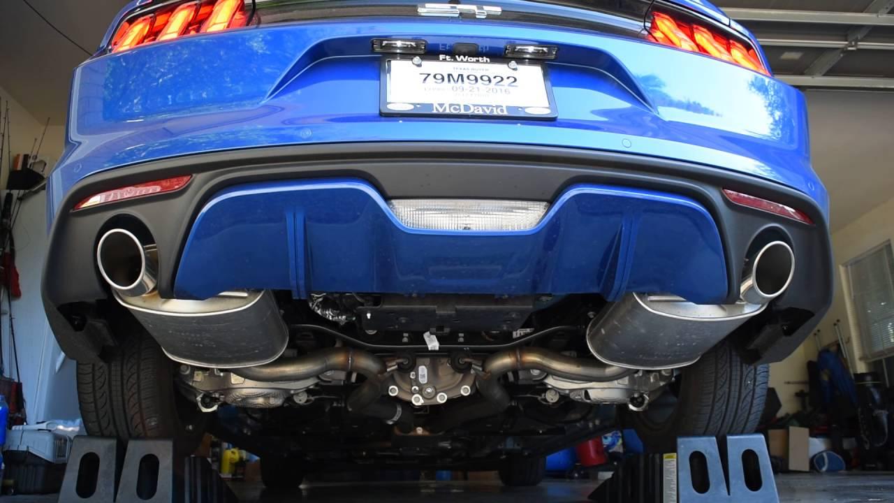 2017 mustang gt premium stock exhaust