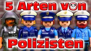 ⭕ PLAYMOBIL POLIZEI - 5 Arten von Polizisten - Playmobil Film