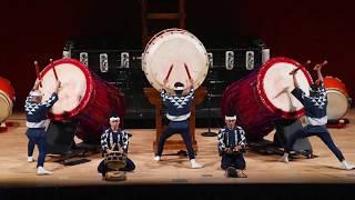 2018年10月16日に開催された富士商工会議所合併50周年記念式典での太鼓...