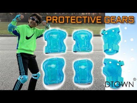 Dtown Kids Protective Gear Set For Skateboarding,Children Knee Elbow Wrist Pads For Roller Skating