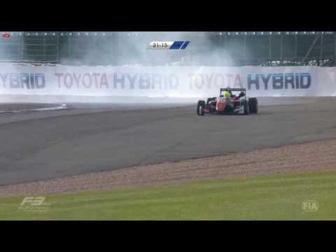 European Formula 3 2017. Mick Schumacher and  Guanyu Zhou spins