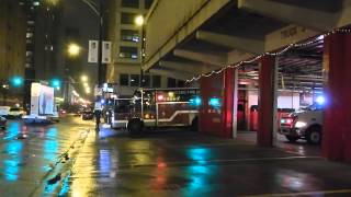 Chicago FD Still In A High Rise Response Truck Co. 3 Squad Co. 1 Comm Van 271 And PFC 451 Responding